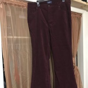 NWOT - Burgundy - Old Navy Corduroy Jeans Size 16